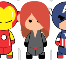 Little Avengers Cartoon Sticker
