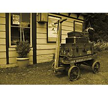 Luggage Trolley Photographic Print