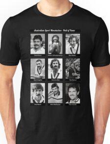 Aussie Moustache Hall of Fame by Decibel Clothing Unisex T-Shirt