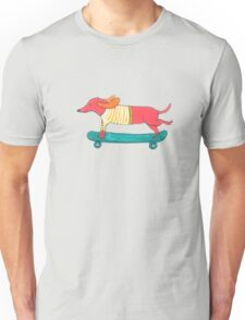 Skateboarding Dog Unisex T-Shirt