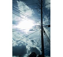 Wired Sun Photographic Print