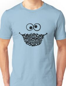 Cookie Monster Typography  Unisex T-Shirt