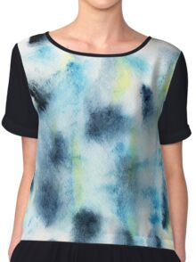 Watercolor abstract spots in the Scandinavian style Chiffon Top
