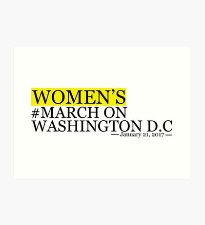 Women's March on Washington DC Art Print