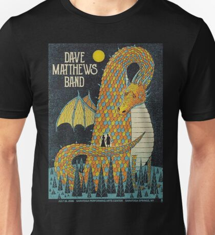 Dave Matthews Band, Tour 2016, Saratoga Performing Arts Center, Saratoga Springs, NEW YORK Unisex T-Shirt