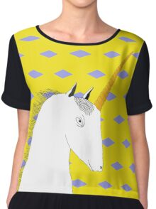Skeptical Unicorn  Women's Chiffon Top