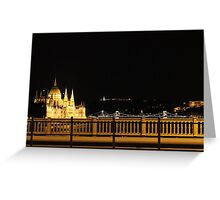 Budapest Lights Greeting Card