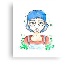 Blue girl Canvas Print