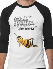 Jerry Seinfeld from The Bee Movie Men's Baseball ¾ T-Shirt