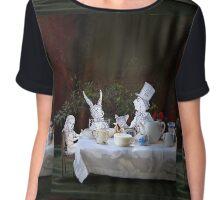 Alice in Wonderland/The Tea Party Women's Chiffon Top