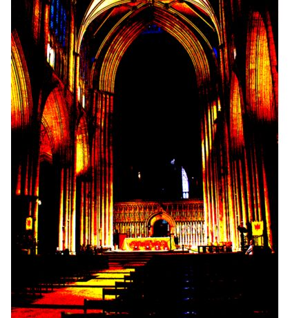 York Minster Abstract Sticker