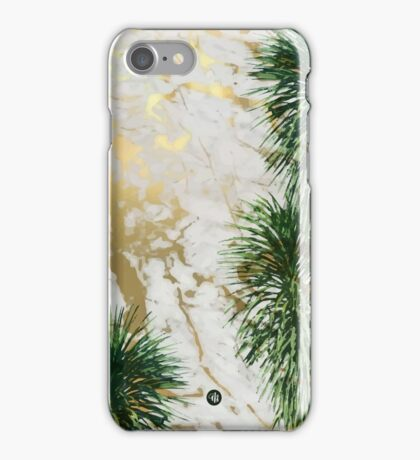 Marble and palm trees iPhone Case/Skin
