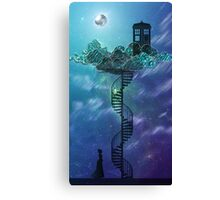 Blue Box in the Victorian Sky Canvas Print