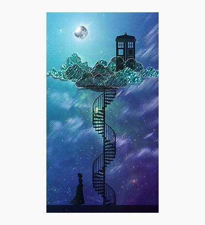 Blue Box in the Victorian Sky Photographic Print