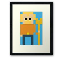 8-Bit Aquaman Framed Print