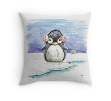 Penny The Penguin Throw Pillow