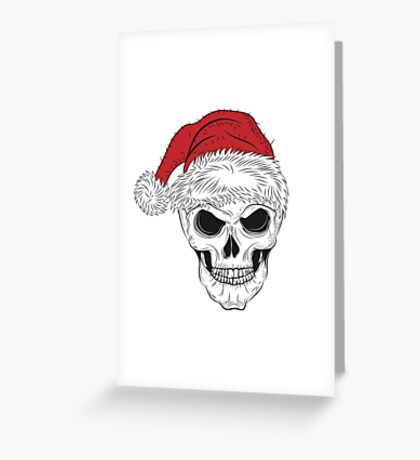Scary Christmas Skull Greeting Card