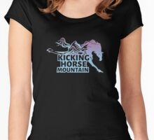 Kicking Horse Ski Resort and Mountain Women's Fitted Scoop T-Shirt