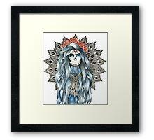 Day of the Dead Woman Mandala Framed Print