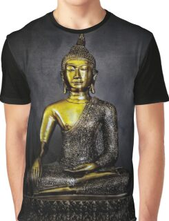 Goldener Buddha Graphic T-Shirt