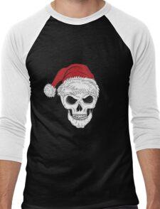 Scary Christmas Skull Men's Baseball ¾ T-Shirt
