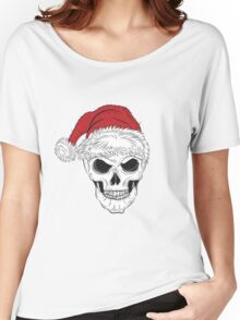 Scary Christmas Skull Women's Relaxed Fit T-Shirt