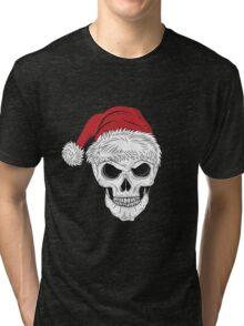 Scary Christmas Skull Tri-blend T-Shirt
