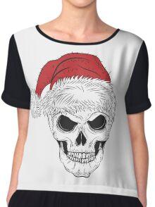 Scary Christmas Skull Chiffon Top