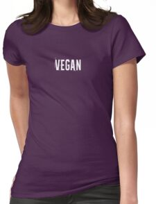 Vegan! - tell the world Womens Fitted T-Shirt