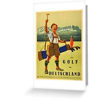 Vintage poster - Golf in Deutschland Greeting Card