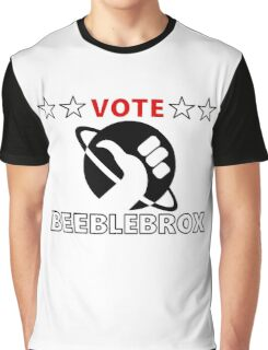 Vote Beeblebrox - Hitchhiker's guide to the galaxy Graphic T-Shirt