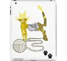 Playful Cat and a Ball of Wool  iPad Case/Skin