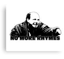No More Rhymes Canvas Print