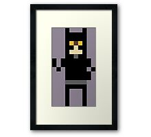 8-Bit Cat Framed Print