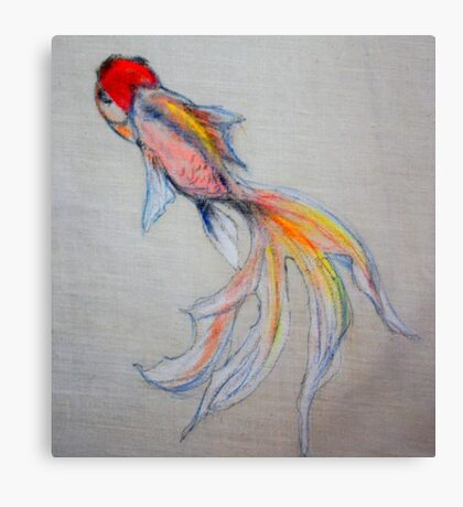 Goldfish Pond (close up #3) Canvas Print