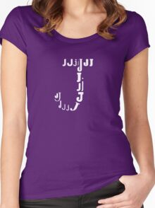 Found Letters - J Women's Fitted Scoop T-Shirt