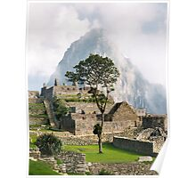 Fog Lifting from Machu Picchu Poster