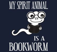 My Spirit Animal Is A Bookworm Kids Tee