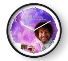Bob Ross Paints Space Clock  Clock