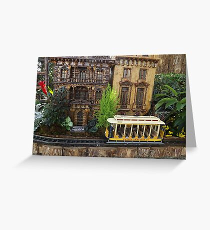 Model Trains, Model Buildings, Botanical Garden Train Show, New York City Greeting Card