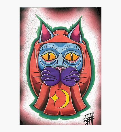 Lucky daruma cat Photographic Print
