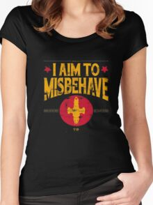 I Aim To Misbehave T-Shirt Women's Fitted Scoop T-Shirt