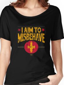 I Aim To Misbehave T-Shirt Women's Relaxed Fit T-Shirt