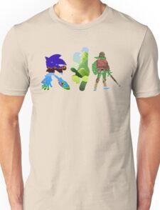 The big three (Sonic, Mario, Legend of Zelda) Unisex T-Shirt