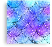 Splish Splash Mermaid Scales Canvas Print