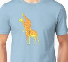 Giraffe Scared Of The Little Mouse Unisex T-Shirt