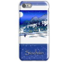Síocháin, Irish Peace, Christmas Winter Village iPhone Case/Skin