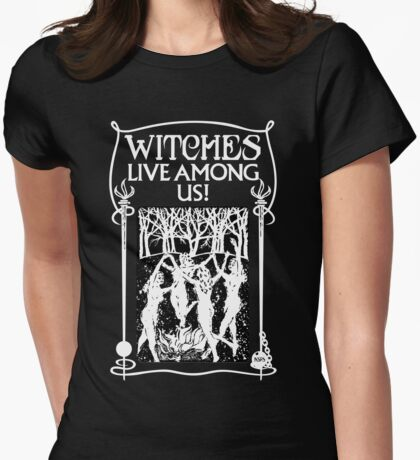 Beware of Witches! Womens Fitted T-Shirt