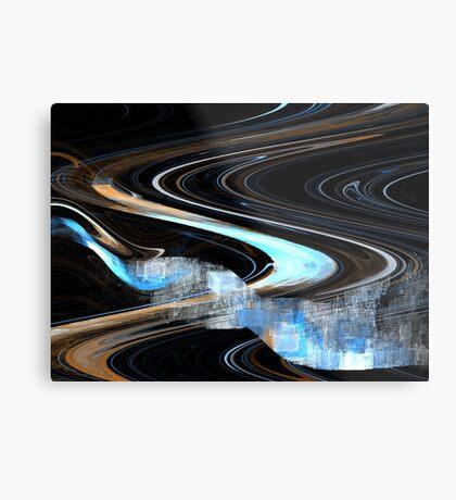 Sienna Blue Curve Metal Print
