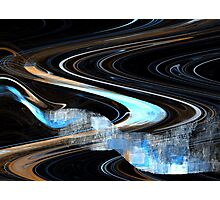 Sienna Blue Curve Photographic Print